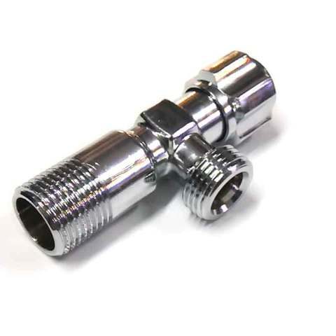 Кран угловой вентильный хромированный 1/2 х 1/2 ANGO