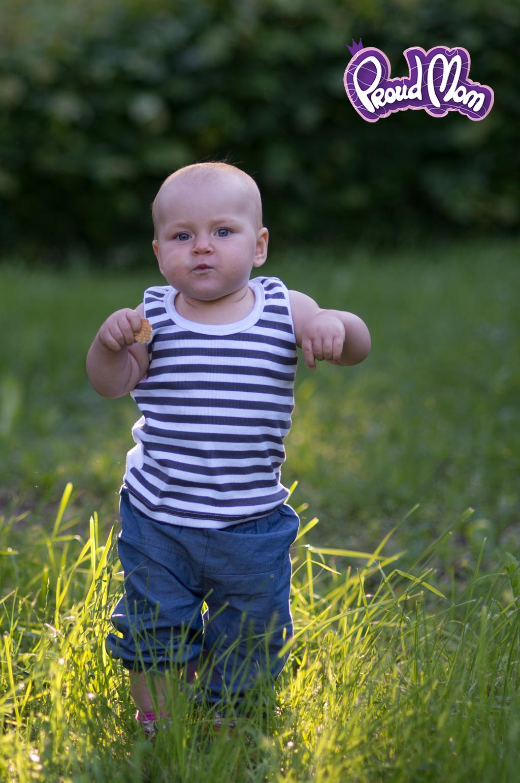 Детская маечка Легкость бытия серая полоска - Фото 19