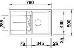 Мойка Blanco Metra 45S Алюметаллик - схема