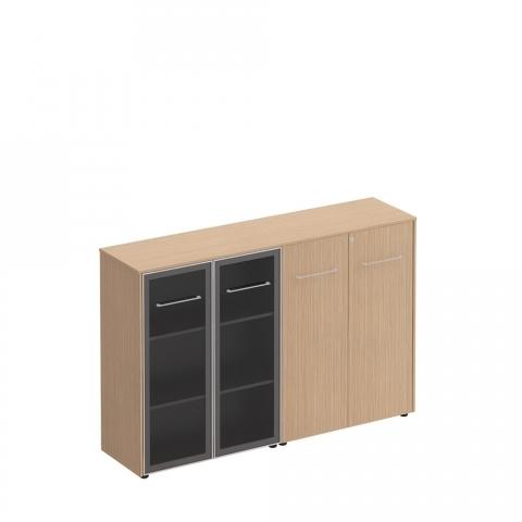 Шкаф комбинированный средний(стекло - закрытый) (184x46x120)