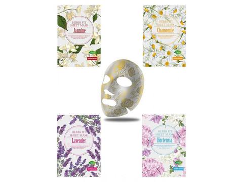 Тканевые маски с цветочными экстрактами: лаванда, ромашка, гортензия, жасмин no:hj SKIN MAMAN HERBS FIT