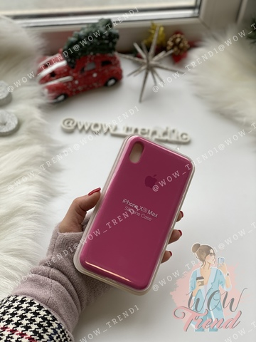 Чехол iPhone XS Max Silicone Case Full /dragon fruit/ тёмная фуксия