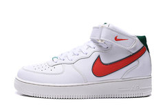 Nike Air Force 1 Mid 'White/Red/Green'