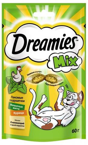 Dreamies лакомство для кошек (курица+мята) 60 г