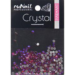 ruNail, Стразы голографические рубиновые (2 мм), 288 шт