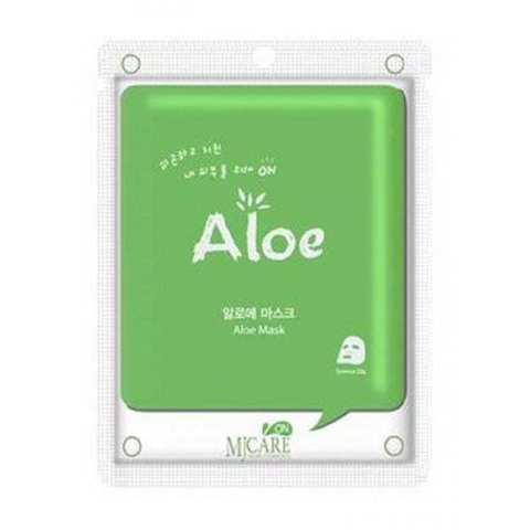 Маска тканевая с алоэ Mijin Care On Aloe Mask Pack