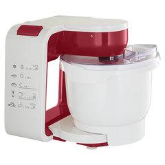 Кухонный комбайн 800 Вт DELTA LUX DL-7500P белый с бордовым