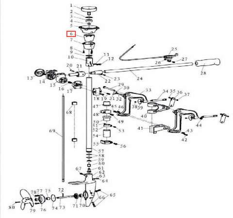 Втулка амортизирующая резиновая для лодочного мотора T3,5 Sea-PRO