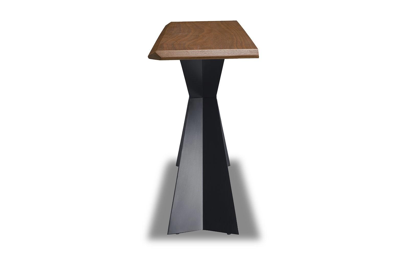 Стол консоль V1712A орех (WK-07)/черный (PC-02)