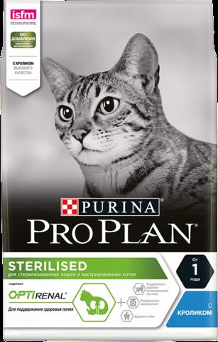 Сухой корм Purina Pro Plan для стерилизованных кошек и кастрированных котов, кролик