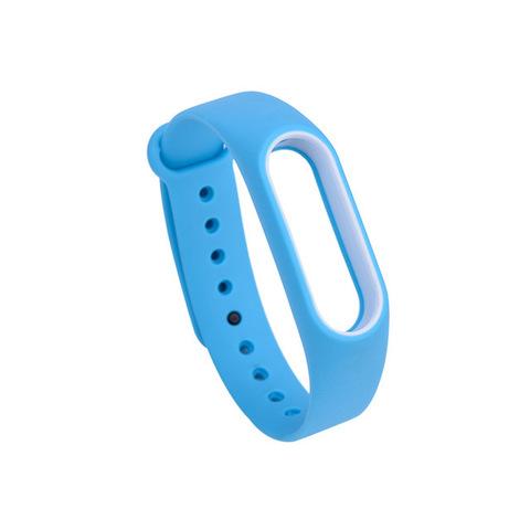 Силиконовый ремешок для Xiaomi Mi Band 4 (Голубой)