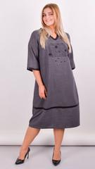 Таіс. Сукня для жінок плюс сайз. Сірий.