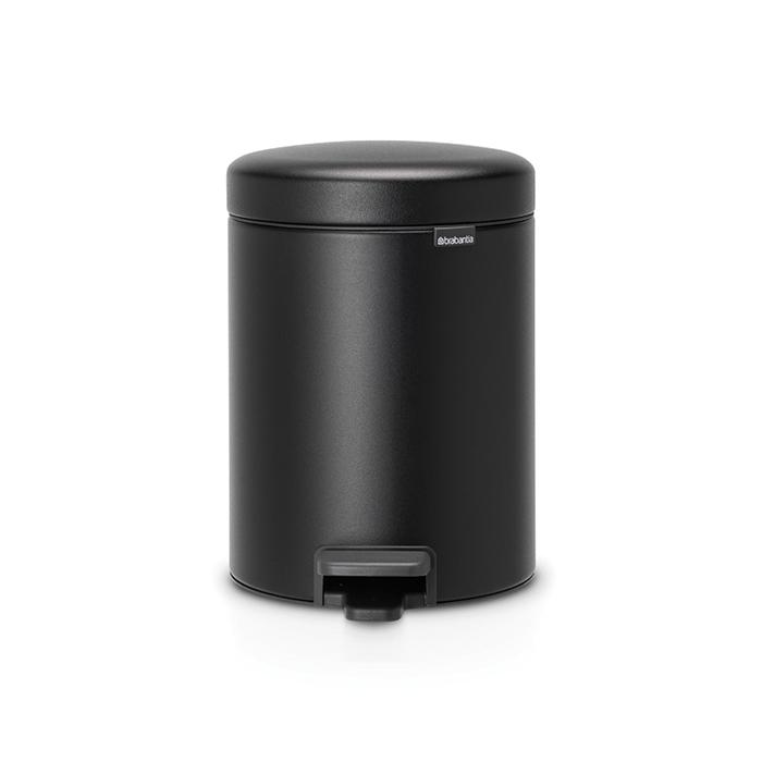 Мусорный бак newIcon (5 л), Черный, с эффектом минерального напыления, арт. 128943 - фото 1