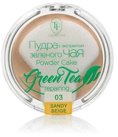 TF Пудра компактная с экстрактом зеленого чая тон 03 песочный беж  ТР-16