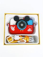 детский цифровой фотоаппарат микки маус красный-2