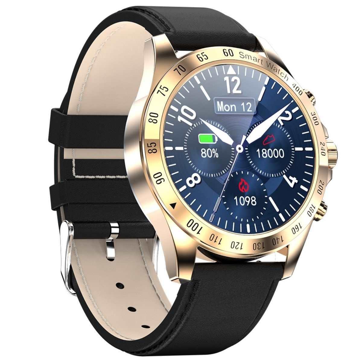Смарт часы и браслеты Смарт часы KingWear LW09 Leather с пульсоксиметром и фитнес трекером KingWear_LW09__12_.jpg