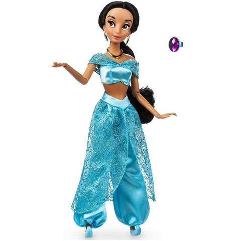Дисней Аладдин Жасмин классическая кукла 30 см с кольцом