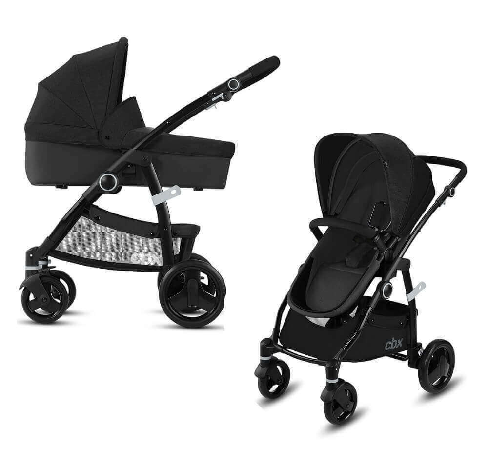 CBX by Cybex Leotie Pure 2 в 1 Детская коляска 2 в 1 CBX by Cybex Leotie Pure Smoky Anthracite CBX_18_y090_LEOTIE_PURE_BLACK_WITHCARRYCOT_0335_DERV_HQ_-_копия.jpg