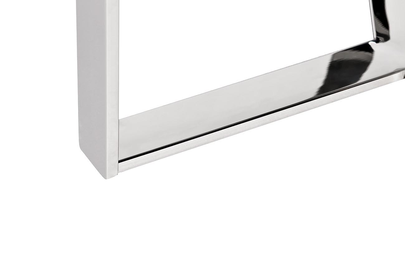 Стол журнальный 47ED-ET031 прозр.стекло/хром d.50*55см