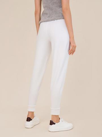 Женские брюки молочного цвета из шерсти - фото 3