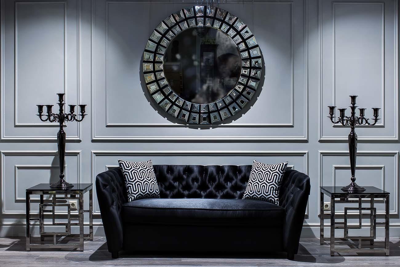 Столы журнальные GY-ET2051212 черное стекло/хром 53*50*50см