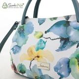 Сумка Саломея 278 цветы + малахит