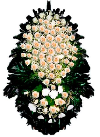 Траурный венок из живых цветов ВЖ 08 -180 см