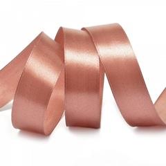 Лента Атлас Розовое золото, 7 мм * 22,85 см.