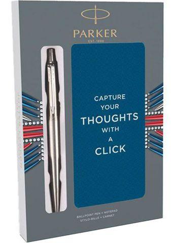 Подарочный набор с блокнотом и Шариковые ручки Parker Jotter St. Steel СT123
