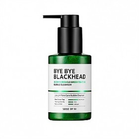 Some By Mi Пенка-маска от черных точек BYE BYE BLACKHEAD 30 DAYS MIRACLE GREEN TEA TOX BUBBLE CLEANSER 120 г