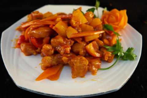 7--14Свинина в кисло-сладком соусе с ананасом菠萝咕噜肉595р400гр