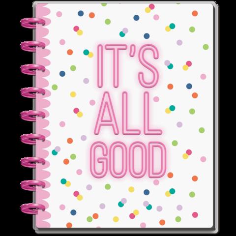 Блокнот в точку с доп украшениями  Happy Planner Classic Happy Notes Kit- Sassy Neon-  19,5х24,5см