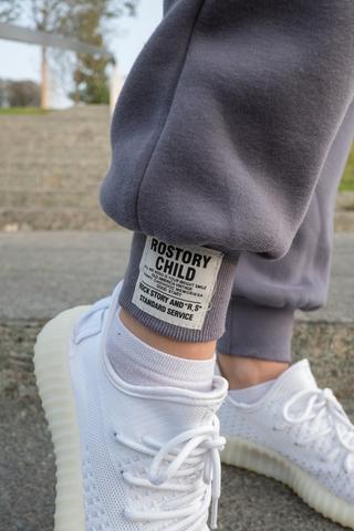 Серые теплые спортивные штаны оптом