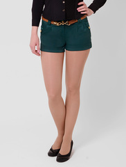 4066 шорты женские, зеленые