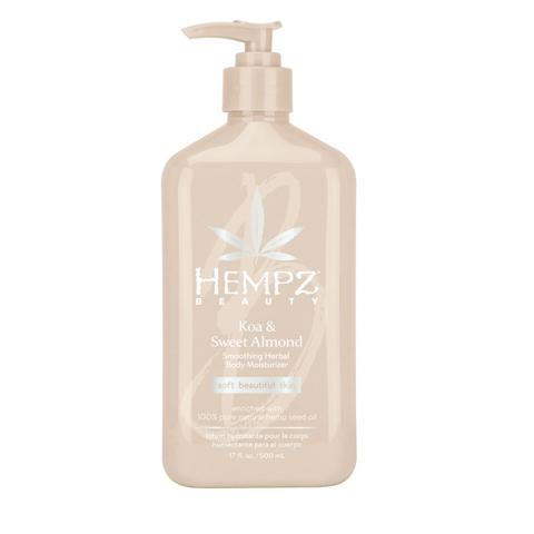 Hempz - Уход для тела: Молочко для тела увлажняющее Коа и Сладкий Миндаль (Koa & Sweet Almond Smoothing Herbal Body Moisturizer), 500мл