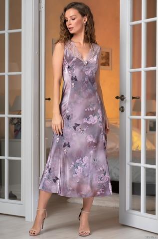 Длинная шелковая сорочка Mia Amore Аврора (70% шелк)