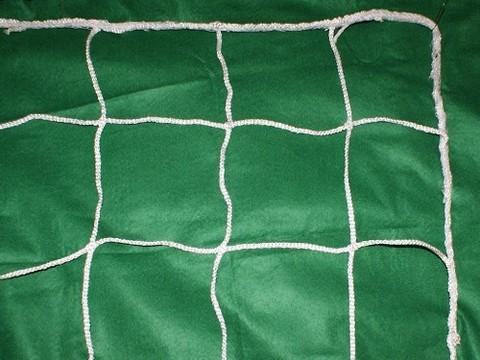 Сетка футбольная, тонкая ( пара)  Размер 7,5 х 2,5 м., ячейка 12*12, тол.4мм :(106):