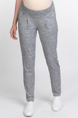 Cпортивные брюки для беременных 11174 серый меланж