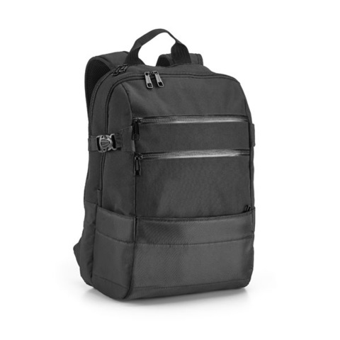 Zippers Laptop Backpack, black