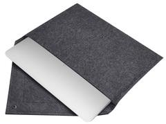 Черный чехол Gmakin на Macbook с треугольной крышкой