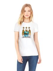 Футболка с принтом FC Manchester City (ФК Манчестер Сити) белая w002