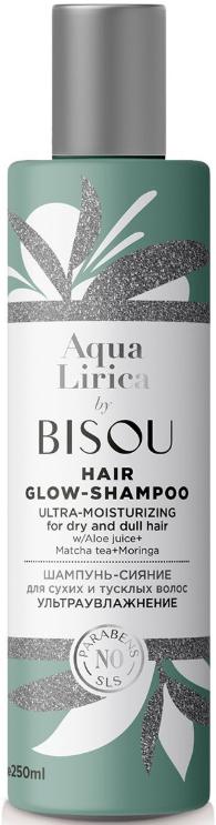 BISOU AquaLirica шампунь-сияние для волос Ультраувлажнение 250мл