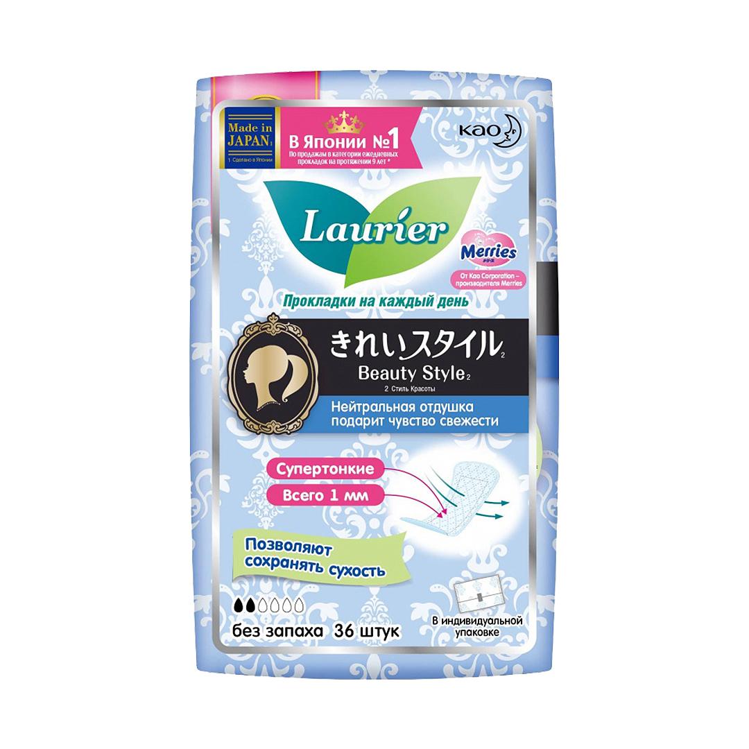 Laurier Женские прокладки на каждый день без запаха 36шт