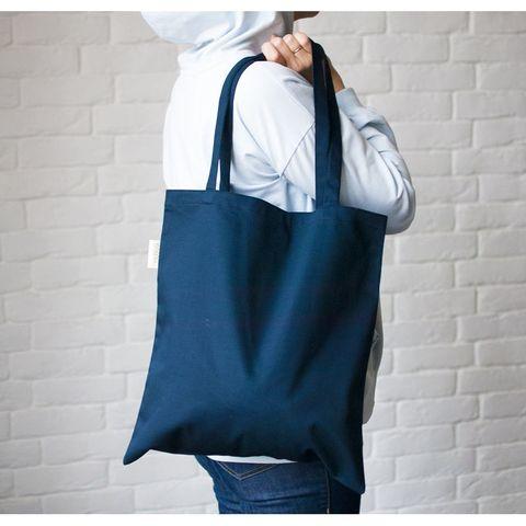 Шоппер тёмно-синий, 40х37 см