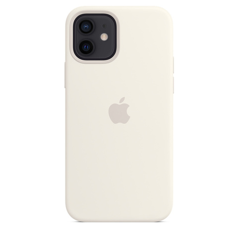 Apple Silicone Case на iPhone 12/12Pro (Белый)