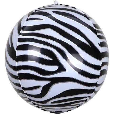 Сфера 3D, полоски зебры, 51 см