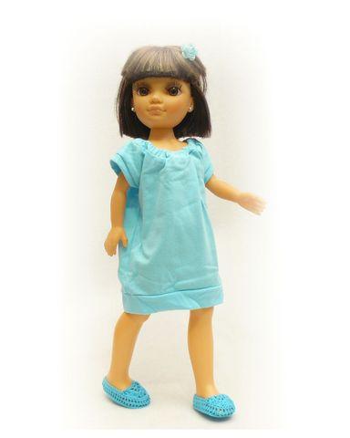 Маленькое трикотажное платье - На кукле. Одежда для кукол, пупсов и мягких игрушек.