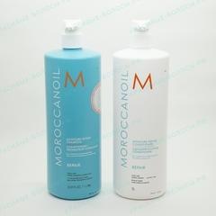 1000 мл Увлажняющий восстанавливающий шампунь Moroccanoil + 1000 мл Увлажняющий восстанавливающий кондиционер Moroccanoil