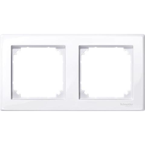 Рамка на 2 поста. Цвет Активный белый. Merten. M-Smart System M. MTN478225