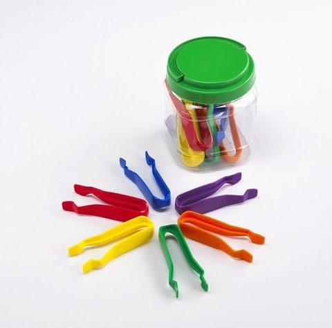 Пинцет пластиковый детский 12см